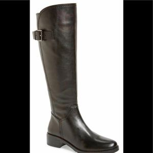 Arturo Chiang tall leather black riding boots